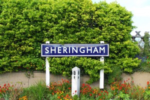 Sheringham Sign on the North Norfolk Railway